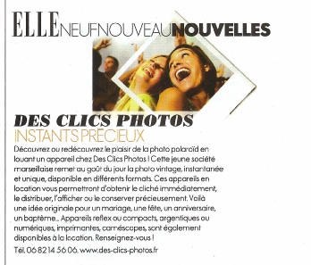 Publication Elle desclicsphotos