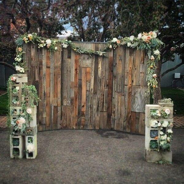 Photobooth mariage nature woody